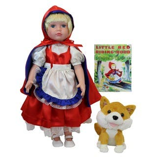Dazzleworks 18-inch Deluxe Once Upon a Time Little Red Riding Hood Storybook Doll|https://ak1.ostkcdn.com/images/products/10234887/P17355471.jpg?impolicy=medium