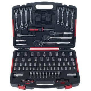Stalwart 135 Piece Mechanics Garage Hand Tool Set in Storage Case