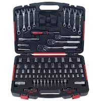 Mechanic's Tool Set- 135 Piece by Stalwart, H& Tool Set Includes –  Screwdriver, Wrench, & Ratchet Set