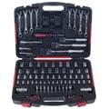 Mechanics Tool Set- 135 Piece by Stalwart, H& Tool Set Includes  Screwdriver, Wrench, & Ratchet Set
