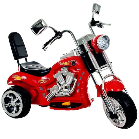 3 Wheel Chopper Motorcycle, Ride on Toy by Rockin' Roller - Boys & Girls 2 - 4 Year Old , Battery Powered