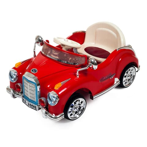 Ride On Toy Car, Battery Powered Classic Car Coupe With Remote Control & Sound by Lil Rider  Toys for Boys & Girls (Red) - Red