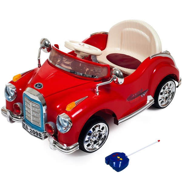 Ride On Toy Car, Battery Powered Classic Car Coupe With Remote Control & Sound by Lil' Rider – Toys for Boys & Girls (Red)
