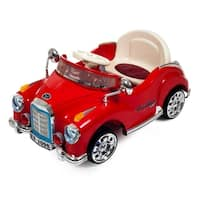 Ride On Toy Car, Battery Powered Classic Car Coupe With Remote Control & Sound by Lil' Rider – Toys for Boys & Girls (Red) - Red
