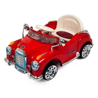 Ride On Toy Car, Battery Powered Classic Car Coupe With Remote Control & Sound by Lil Rider  Toys for Boys & Girls (Red)