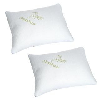 Memory Foam Pillow, Pillow Cover Bamboo from Rayon, Bed Pillows for Comfort & Support by Lavish Home