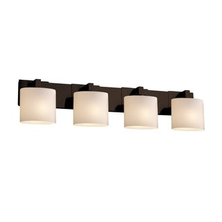 Justice Design Modular 4-Light Halogen Bath Bar, Black