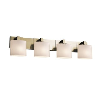 Justice Design Modular 4-light Halogen Bath Bar, Brass