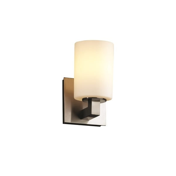 Justice Design Modular 1-Uplight Halogen Wall Sconce, Nickel - Free Shipping Today - Overstock ...