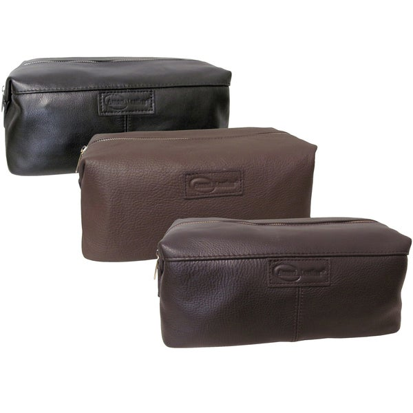 a1f0e182c1dd Shop Amerileather Madison Leather Cosmetic Toiletry Bag - Free ...