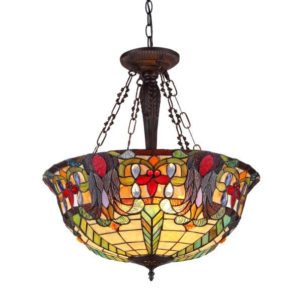 Tiffany Style Victorian Design 3 Light