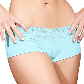 Prestige Biatta Lee Sky Blue Microfiber with Lace Hot Short
