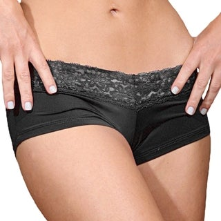 Prestige Biatta Lee Black Microfiber with Lace Hot Short