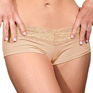Prestige Biatta Lee Beige Microfiber with Lace Hot Short
