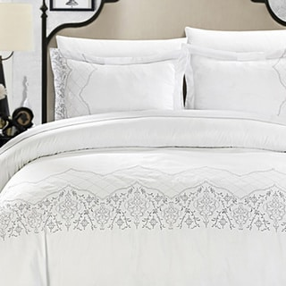 Chic Home Sandy Contemporary 3-Piece Duvet Set