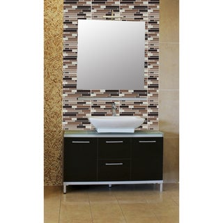 Achim Magic Gel Coffee/ Beige Piano Mosaic 9.125 x 9.125-inch Self-adhesive Vinyl 6 Tiles/ 4.5 sq. ft. Wal