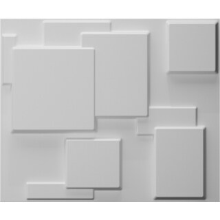 32 Sq. Ft. Plant Fiber Cube Wall Panels (Pack of 6)