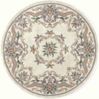 Heritage Ivory Wool Area Rug (6' Round)