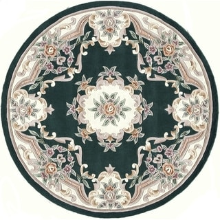 Heritage Wool Green Area Rug (6' Round)