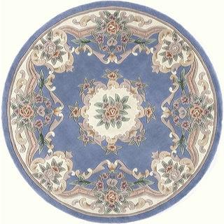 Heritage Blue Wool Area Rug (6' Round)