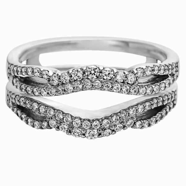 Sterling Silver 1/2ct TDW Diamond Double Infinity Wedding