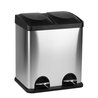 Stainless Steel 15 Liter 2-Step Recycle Bin