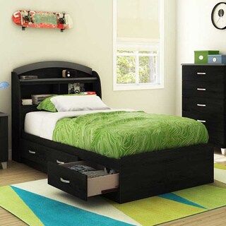South Shore Black 39-inch Lazer Twin Mates Bed