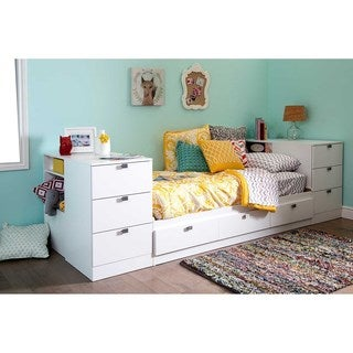 South Shore 39-inch Sparkling Twin Storage Headboard