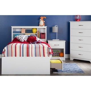 South Shore White 39-inch Fusion Twin Bookcase Headboard