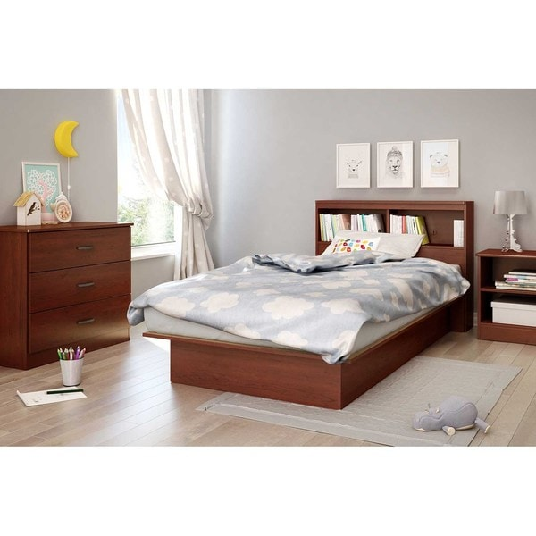 shop south shore 39 inch libra twin bookcase headboard free shipping today. Black Bedroom Furniture Sets. Home Design Ideas