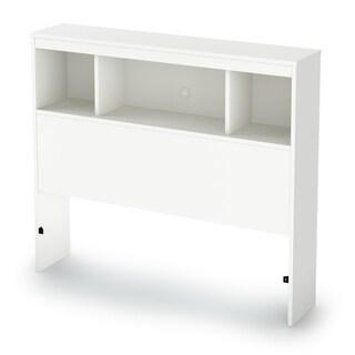 South Shore White 39-inch Litchi Twin Bookcase Headboard