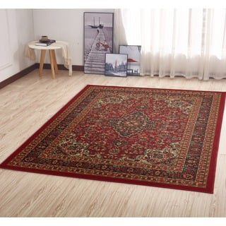 Ottomanson Ottohome Collection Persian Heriz Oriental Design Non Skid Slip Rubber Backing Area