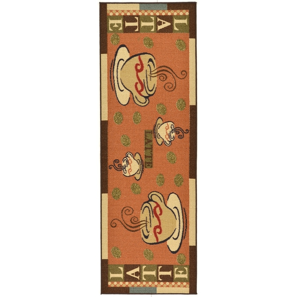 Ottomanson Sara's Kitchen Dark Orange Kitchen Collection