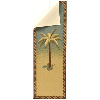 Ottomanson Sara's Kitchen Sage Kitchen Collection Palm Tree Design Runner Rug (1'8 x 4'11)