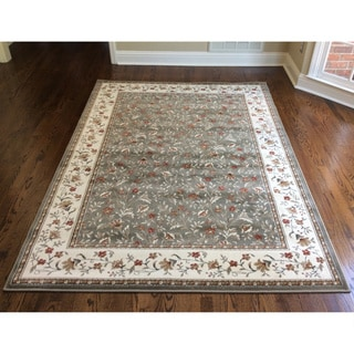 Admire Home Living Amalfi Floral Sage Area Rug (5'5 x 7'7) - 5'5 X 7'7