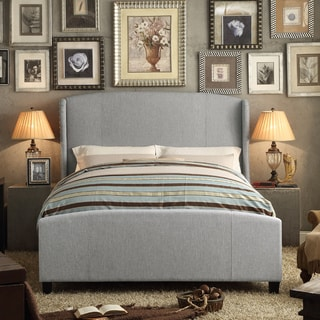 Moser Bay Furniture Chavelle Grey Upholstery Bed with High Profile Footboard