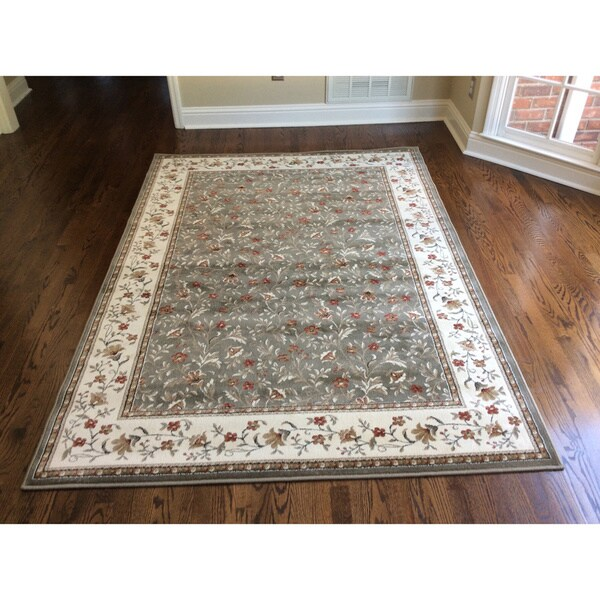 Admire Home Living Amalfi Floral Sage Area Rug - 7'9 x 11'