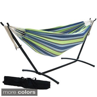 Prime Garden 9-foot Double Hammock with Space Saving Steel Hammock Stand