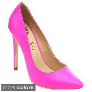 Machi MIYA-1 Women Classic Pointed Toe Slip-on Stiletto Heel Dress Pumps