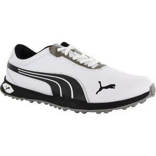 Puma Men's Biofusion Spikeless White/ Black/ Silver Golf Shoes|https://ak1.ostkcdn.com/images/products/10235252/P17355799.jpg?impolicy=medium