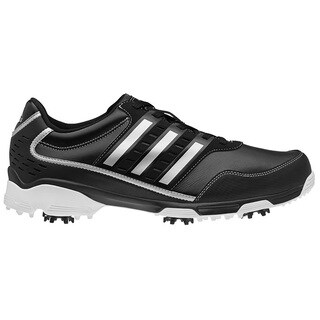 Adidas Men's Golflite Traxion Black/ Dark Metallic Silver Golf Shoes