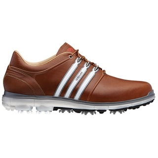 Adidas Men's Pure 360 Tan Brown/ White/ Dark Solar Blue Golf Shoes