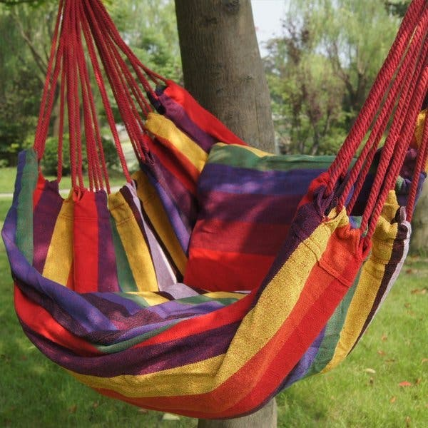Prime Garden Soft Comfort Hanging Hammock Chair Overstock 10235270
