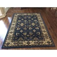 Admire Home Living Caroline Cobalt Area Rug (5'5 x 7'7)