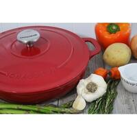 Cast Iron Lidded Braiser-1.8 quart, Red
