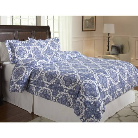Pointehaven 200 GSM Superior Flannel Print Duvet Sets
