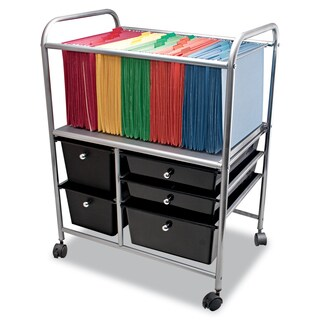 Advantus Letter/Legal File Black Cart w/Five Storage Drawers