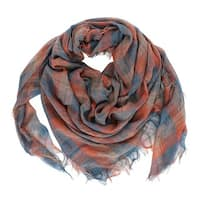 LA77 Plaid Frayed Scarf