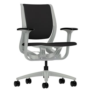 HON Purpose Upholstered Flexing Black/Platinum Task Chair