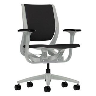 HON Purpose Upholstered Flexing Black/Platinum Task Chair